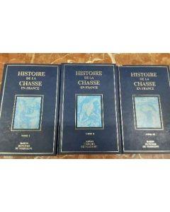 HISTOIRE DE LA CHASSE EN FRANCE 3 TOMES