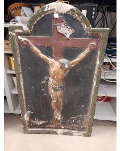 CHRIST PEINT HAUT RELIEF